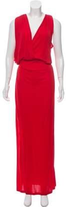 Vionnet Sleeveless Draped Dress Red Sleeveless Draped Dress
