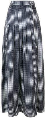 Mantu polka dot pleated skirt