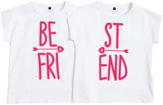 Armani Junior Set Of Best Friend Jersey T-Shirts