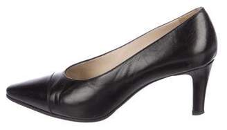 Chanel Leather Mid-Heel Pumps