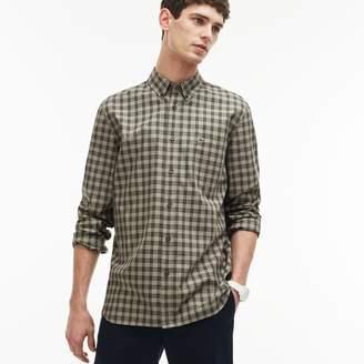 Lacoste Men's Regular Fit Check Oxford Cotton Shirt