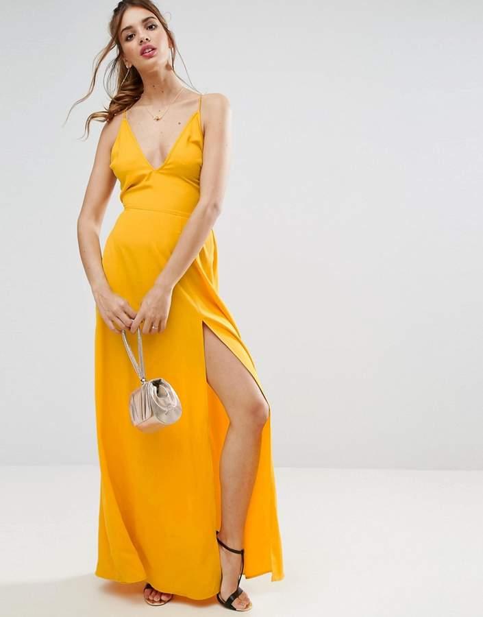 AsosASOS Plunge Strap Back Maxi Dress