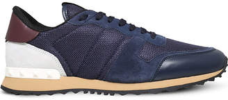 Valentino Rockrunner suede and mesh trainers