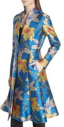 Etro Lily Jacquard Flare Hem Jacket