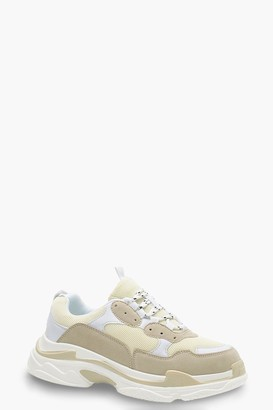boohoo Chunky Platform Lace Up Trainers