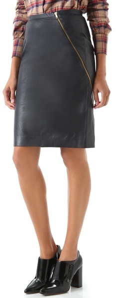 Boy. by band of outsiders Leather Pencil Skirt