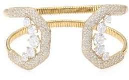 Adriana Orsini Pave Crystal Flexible Wide Cuff Bracelet