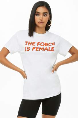 Forever 21 The Style Club The Force is Female Graphic Tee