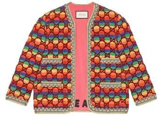 Gucci GG rainbow velvet jacket