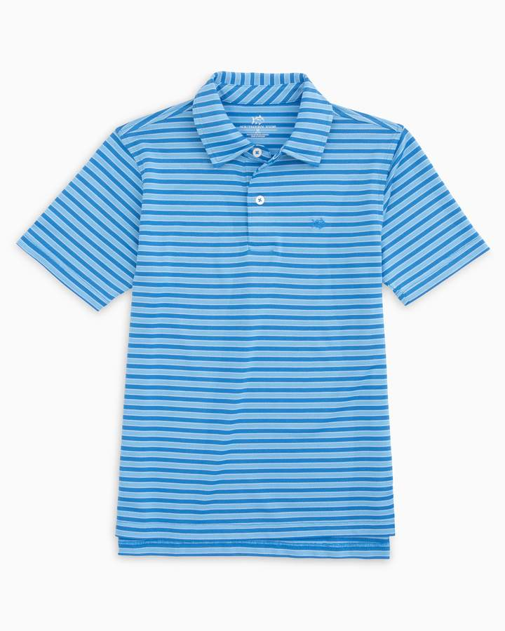 Southern Tide Boys Bass Creek Stripe Performance Polo
