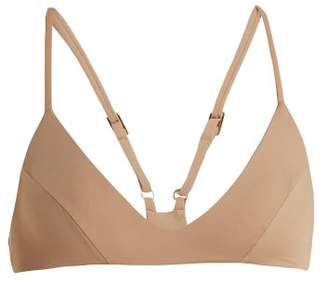 Dos Gardenias - Wild Honey Racer Back Bikini Top - Womens - Nude