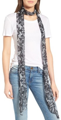 Women's Hinge Whimsical Wings Skinny Scarf $25 thestylecure.com