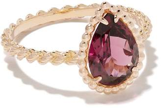 Boucheron 18kt rose gold Serpent Bohème rhodolite ring