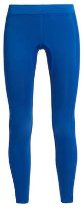 Aeance - Compression Panel Performance Leggings - Womens - Blue