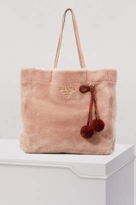 Prada Shearling tote bag