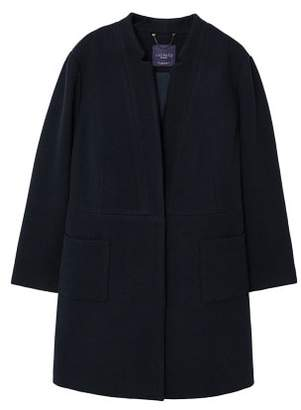 Violeta BY MANGO Pocketed wool coat