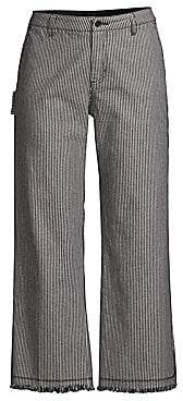 ATM Anthony Thomas Melillo Women's Railroad Striped Wide-Leg Pants