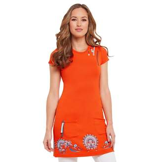 Joe Browns Orange Border Print Tunic