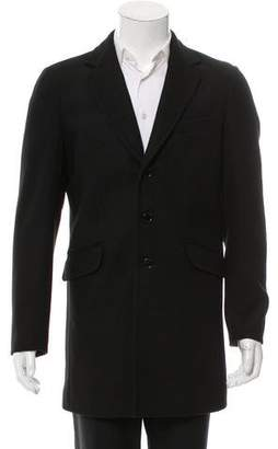 Valentino Felted Notch-Lapel Overcoat w/ Tags