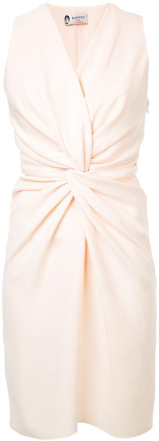 Lanvin knot waist dress