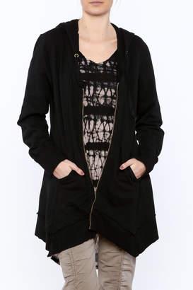 XCVI Black Zip Up Jacket