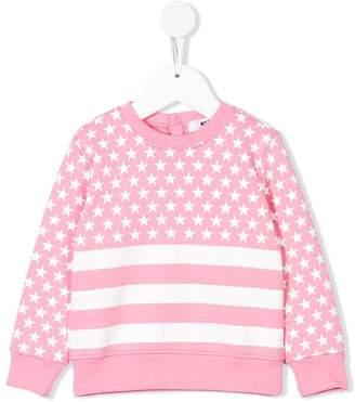 MSGM stars & stripes printed sweatshirt