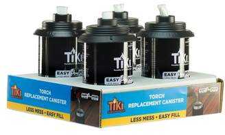 TIKI 12oz. 4pk Torch Replacement Canister with Easy Pour System