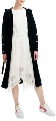 Maje Maelio Wool-Blend Hooded Coat
