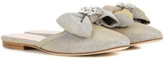 Oscar de la Renta Embellished slippers