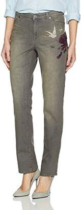 Bandolino Women's Millie Curvy Slim Straight 5 Pocket Jean