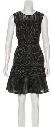 J. Mendel Embroidered Mini Dress Black Embroidered Mini Dress