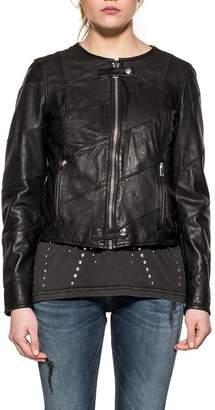 Diesel Black Arena Leather Jacket