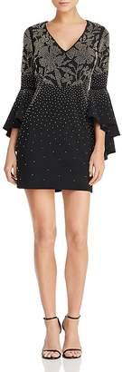 Aqua Beaded Bell-Sleeve Dress - 100% Exclusive