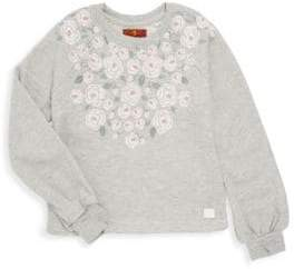 7 For All Mankind Girl's Floral Sweatshirt