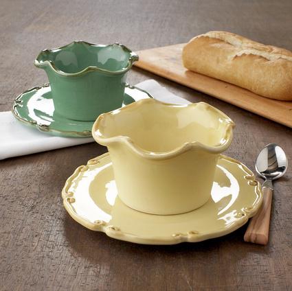 Spring Ruffle Ceramics, Sets of 4