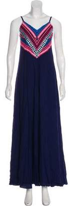 Mara Hoffman Embroidered Sleeveless Maxi Dress