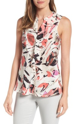 Women's Nic+Zoe Color Pop Silk Blend Tank $138 thestylecure.com