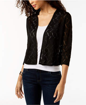 Charter Club Cropped 3/4-Sleeve Cardigan, Created for Macy's