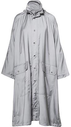 Opera Oversized Printed Reflective Shell Raincoat - Gray