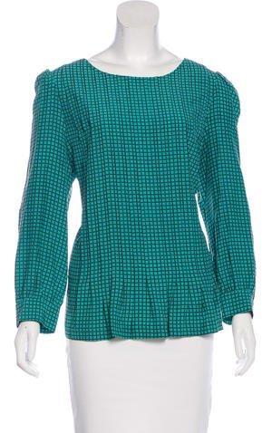 Kate Spade New York Silk-Blend Long Sleeve Blouse