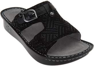 Alegria Leather Adjustable Slide Sandals - Peggy