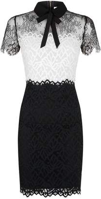 Sandro Tri-Colour Lace Dress