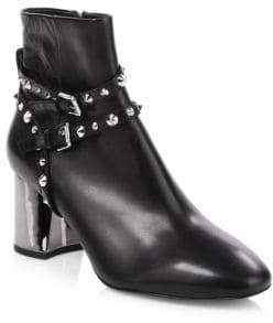 Ash Harlem Studded Leather Ankle Boots