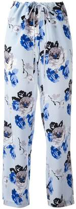 Theory floral print trousers