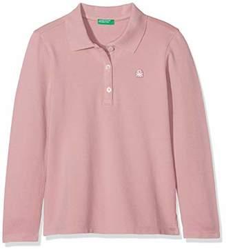 Benetton Girl's L/s Polo Shirt Shirt,(Manufacturer Size: 2y)