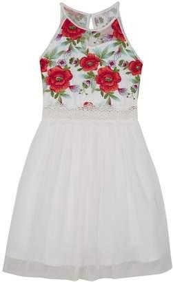 Amy Byer Iz Girls 7-16 IZ Embroidered Floral Fit & Flare Dress