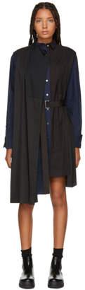 Sacai Black Wrap Shirt Dress