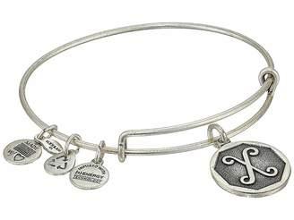 Alex and Ani Initial X Charm Bangle Bracelet