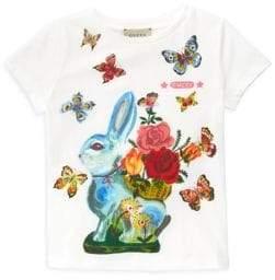 Gucci Little Girl's& Girl's Bunny& Butterflies Tee
