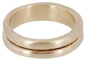 Lori Kaplan Jewelry Gold Double Band Stacking Ring